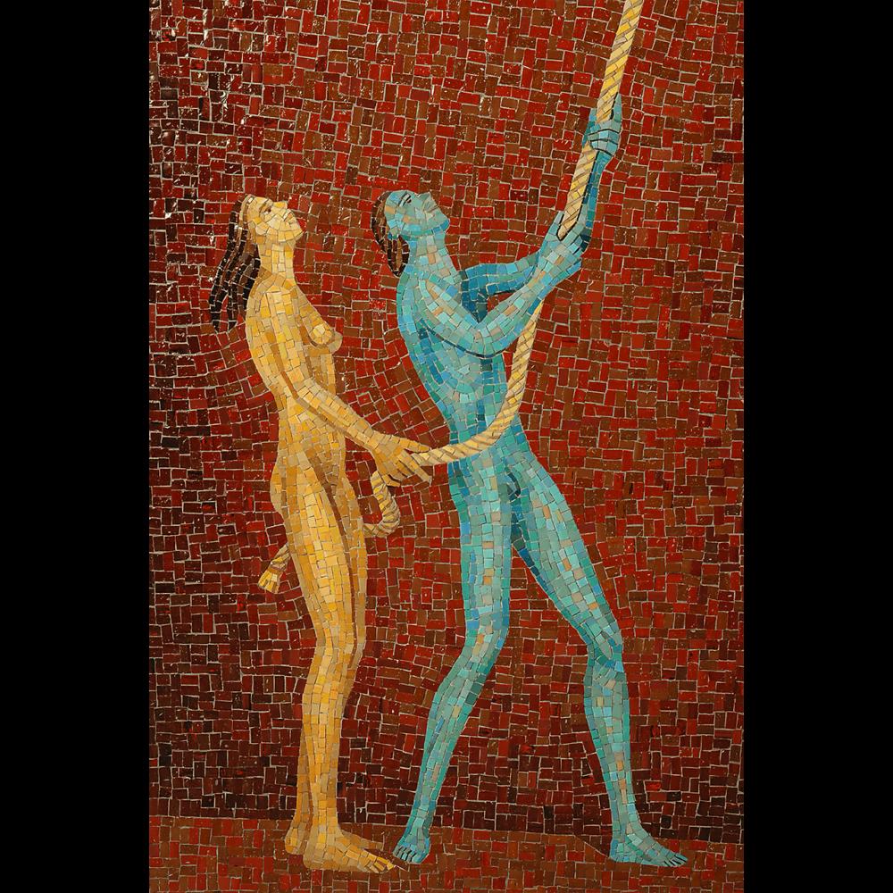 Luna caprese Mosaico bizantino Giacinto Bosco