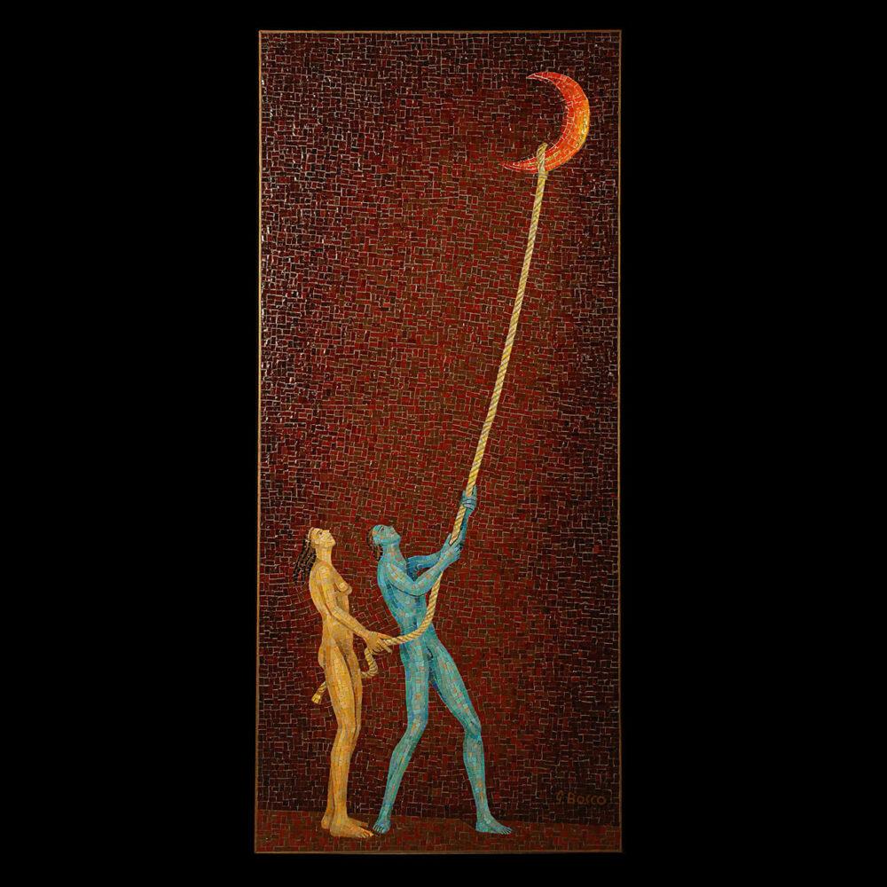 Luna Caprese mosaico Giacinto Bosco