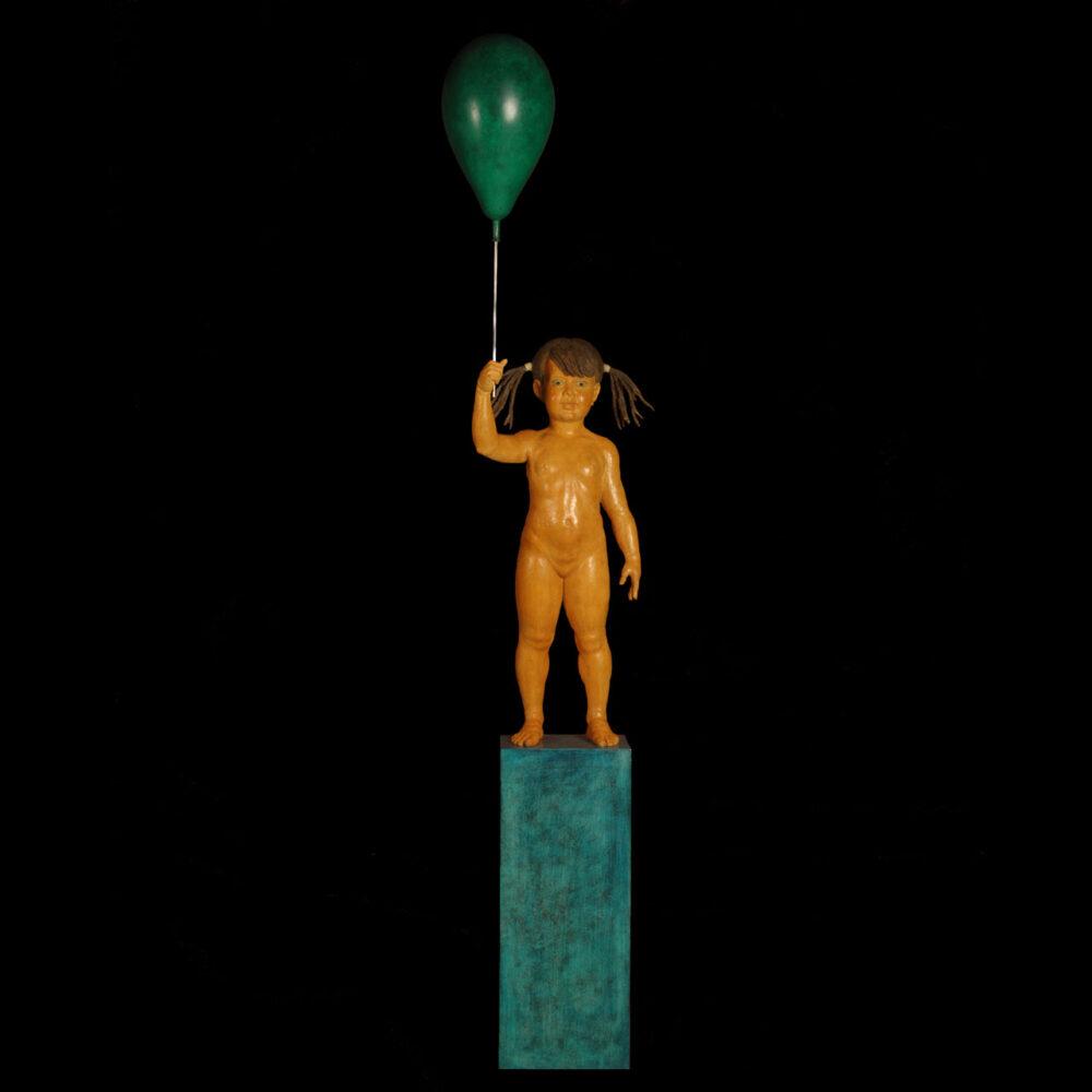 Bambina con palloncino Giacinto Bosco